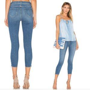 L'Agence Emmanuelle Skinny Zip Cropped Jeans